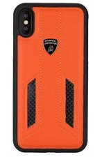 Lamborghini Huracan d6 Premium funda de piel para iPhone X-orange