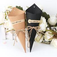 50x Vintage Rustic Wedding Confetti Cones Confetti Kraft Paper Cones Petal Cones