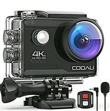 COOAU 4K 20MP WiFi Action Camera External Microphone Remote Control EIS CU-SPC06