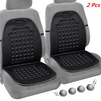 2x Car Seat Black Cushion Beads Therapy Bubble Massage Comfort Chair Cover Pad