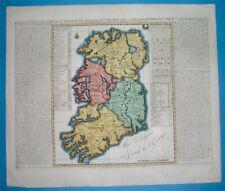 1713 RARE NICE ORIGINAL MAP IRELAND BELFAST DUBLIN ULSTER MUNSTER CORK Chatelain