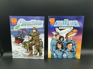 2 BD Graphic library 2006 anglais The challenger explosion et  Shackleton