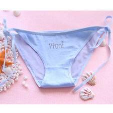 2017 Women Low Waist Underwear Letter Printing G-string Thong Panties Blue