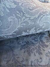 Jacquard Leinen Tischdecke 147x300 cm Azurblau Blumenmuster