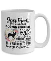 Boston Terrier Mom Mug Mother's Day Gift For Boston Terrier Lover Boston Terrier