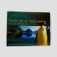 New Zealand  - 2005 - Brilliant Uncirculated Coin Set - Fiordland  Penguin
