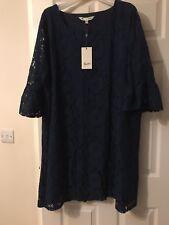 Vestido de Encaje Azul Marino Cambio Yumi Curves 26 BNWT