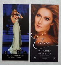 Celine Dion Las Vegas Caesars Palace concert flyer lot of 2 from 2013-14 & 2016