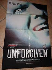 POSTER LOCANDINA MANIFESTO DEL FILM UNFORGIVEN CM 59X88,4 RAW WRESTLING