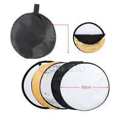 """24"""" 60cm 5 in 1 Multi Collapsible Photography Studio Photo Light Reflector"""