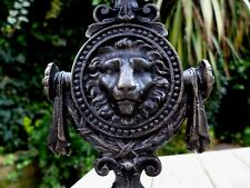 Cast Iron Lion Head Table Lamp Handmade Very Unique Heavy Pair Only 2 Made !!!!