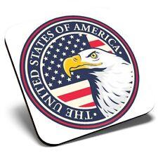 Square Single Coaster - Eagle United States of America  #6029