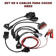 CONJUNTO ADAPTADOR 8 CABLES COCHE DIAGNOSTICO OBD2 TCS CDP PRO DS150E DELPHI CAR