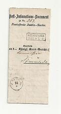 Pr Vor / WEISSENSEE Ra2 auf Ins-Dok (innen Neg.-Stpl.) 1859 n. Sömmerda