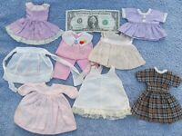 NICE Lg Lot of Vintage 1960 Handmade Doll Clothes & Outfits, BIGGER THAN BARBIE