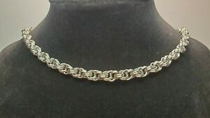 chainmail jewelry necklace stainless steel rope chain