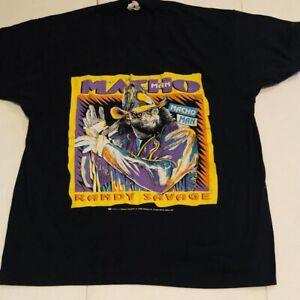 WWF VINTAGE SHIRT MACHO MAN RANDY SAVAGE T-Shirt Black Reprint TK2997