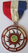 Maryland Lupus Foundation 1981 Annual Folkwalk Volksmarch Volksmarsch Medal