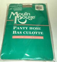 MOULIN ROUGE Silky Control Top Pantyhose Size AVERAGE LINEN NIP