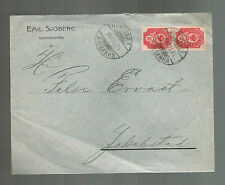 1908 Tammerfors Russia Commercial cover to Jakobstad