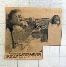1949 Four-year-old Roger Sawell West Wickham Close Reveille On Trumpet