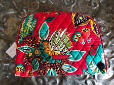VERA BRADLEY~Large Zip Cosmetic Bag~RED RUMBA~Brand New with Tag!