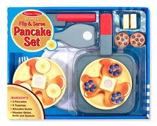 Melissa & Doug Wooden Flip and Serve Pancake Set #9342 NEW