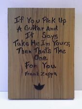 Frank Zappa Quote Recycled Wood Wall Plaque With Hanger Original Art