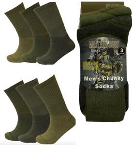 3 Pairs Mens Military Socks Army Thermal Hiking Boots Walking Combat warm  6-11