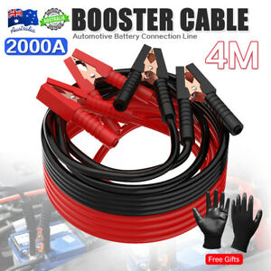 2000 AMP Jump Leads Heavy Duty Battery Start Cable Set Jumpleads Car Van Boost