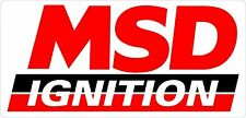 "MSD Ignition Decal Sheet Sticker 2"" X 4"""