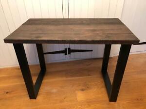 Reclaimed Rustic Wood Scaffold Board Trapezium Leg Desk/Table - Size Options!