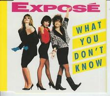 EXPOSE CD-MAXI WHAT YOU DON'T KNOW  ( 1989)