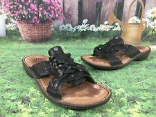 UGG Australia 1006539 KEALA Black Leather Slides Sandals Women's Size 7