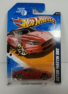 2012 Hot Wheels Red Aston Martin DBS Faster Than Ever '12