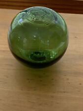 Vintage Green Glass Fishing Float FGC Made in England