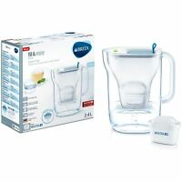 BRITA Style Cool MAXTRA+ Plus 2.3L Slim Water Filter Fridge Jug + Cartridge Blue