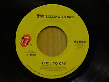 Rolling Stones rock 45 Fool To Cry bw Hot Stuff The Rolling Stones