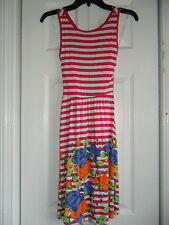 Dream Out Loud by Selena GomezJunior's Striped Dress Fuschia/Floral Size: S  NWT