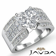 Comforting Heart Diamond Invisible Set Engagement Ring GIA G SI1 Platinum 2.14ct