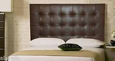 Extra Tall Wall Mounted Queen size Genuine Leather Headboard