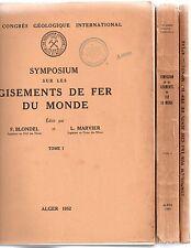 LES GISEMENTS DE FER DU MONDE 2 VOL. + ATLAS GEOLOGIE 1952 XIXe CONGRES IRON