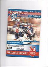 DEL Programm: NÜRNBERG ICE TIGERS - MANNHEIM ADLER 01.12.2000, SAISON 00/01