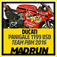 Kit Adesivi Ducati Panigale 1199 BSB Be Wiser 2016 - High Quality Decals
