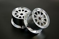 Chrome Plastic Rear Wheel hub set for 1/5 HPI Baja 5B Parts Rovan KM 2.0 3.0