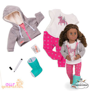 OUR GENERATION DOLL - GET WELL SOON - Deluxe Outfit Medical set - American Girl