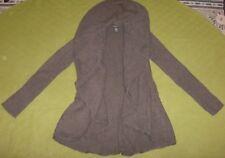 Macy'S International Concepts Inc Brown Drape Cardigan Sweater M Medium Angora