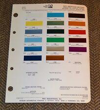 VTG 1972 Ditzler Auto Color Paint Chip American Motors Javelin AMX Gremlin 7214