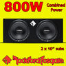 "Rockford Fosgate Double 10"" PRIME 800w Car Audio Subwoofer Sub Woofer Bass Box"