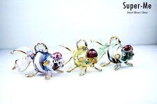 Fish Murano Art Glass Color full Aquarium Figurine Hand Blown Marine Gift 3 Gold